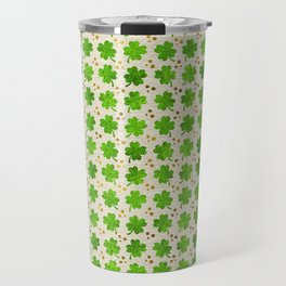 Irish Shamrock Four-leaf clover pattern Travel Mug