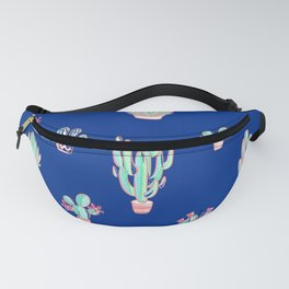 Little cactus pattern - Princess Blue Fanny Pack