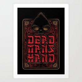 Dead Mans Hand Art Print