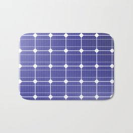 In charge / 3D render of solar panel texture Bath Mat