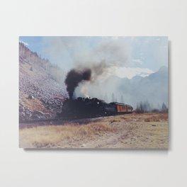 Mountain Train Metal Print