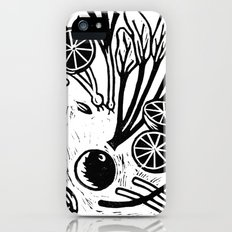 Vegetables Linoprint iPhone (5, 5s) Slim Case