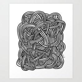 Noeud Art Print