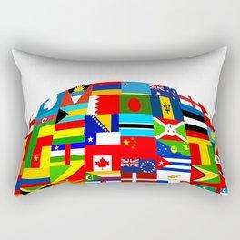 Flag World Rectangular Pillow