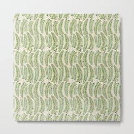 Palm leaves in tiger print Metal Print