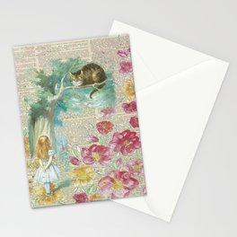 Vintage Floral Alice In Wonderland Stationery Cards