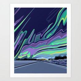 Road to Aurora Art Print
