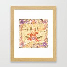 camp half blood floral Framed Art Print