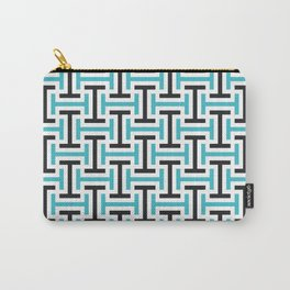 Geometric Pattern 212 (teal black) Carry-All Pouch