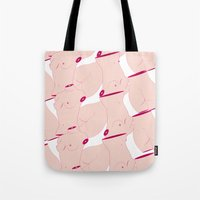body Tote Bags featuring Body by AgatheG