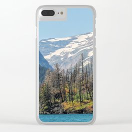 Montana Mountains Clear iPhone Case
