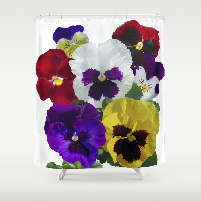 Pansies Shower Curtain By Rvjdesigns