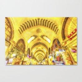 The Spice Bazaar Istanbul Art Canvas Print