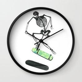 Skeleton Skater Wall Clock