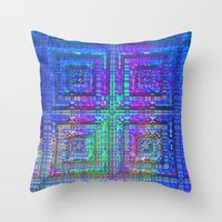 alchemy Throw Pillows featuring Color Alchemy by Lyle Hatch