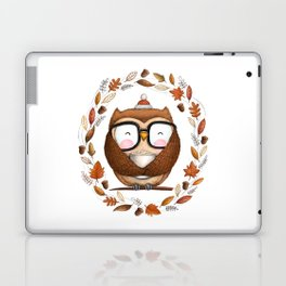 Fall Ready Owl- Illustration Laptop & iPad Skin