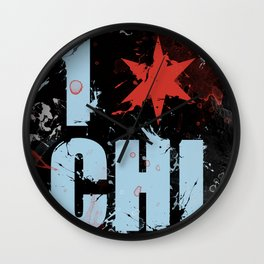 Chicago Love Wall Clock