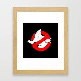 Ghostbusters Black Framed Art Print
