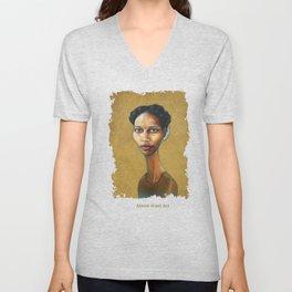 Portrait of Ayaan Hirsi Ali Unisex V-Neck