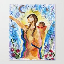 Sacagawea (Sacajawea) and Jean Baptiste Canvas Print