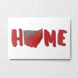 Ohio Home Map Watercolor Print Metal Print