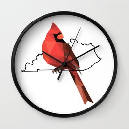 Kentucky – Northern Cardinal Wall Clock