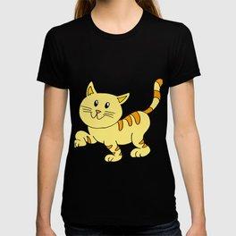 cat yellow T-shirt
