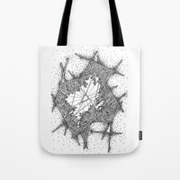 fractal Tote Bags featuring Fractal by Abstract Al