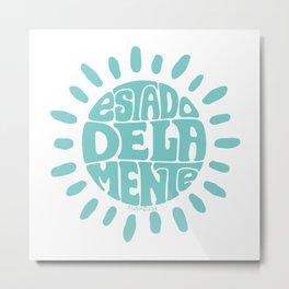 State of mind Soft Seafoam Teal Metal Print