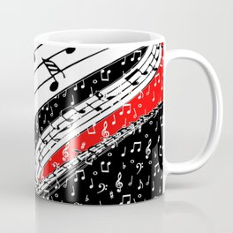 Red and black music theme Coffee Mug