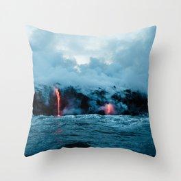 Vulcano ocean Throw Pillow