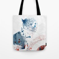 soldier Tote Bags featuring The Soldier by Arian Noveir