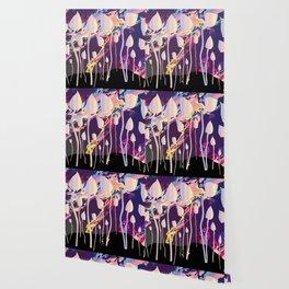 Magic Mushrooms Jazz Background Wallpaper