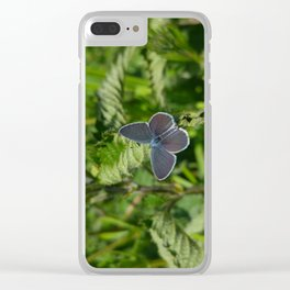Small Blue Butterfly Clear iPhone Case