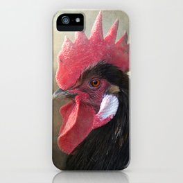 Black Rooster iPhone Case