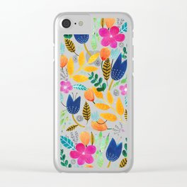 Flower Mayhem Clear iPhone Case