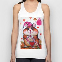hamster Tank Tops featuring HAMSTER by oxana zaika