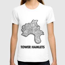 Tower Hamlets - London Borough - Detailed T-shirt