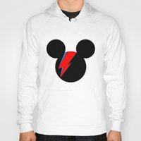 david bowie Hoodies featuring David Bowie Mouse by Ricardo Silvestre