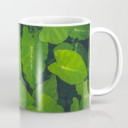 Beautiful green leaves in macro Coffee Mug