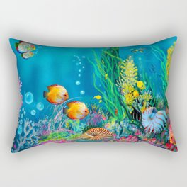 Undersea with Nautilus Rectangular Pillow
