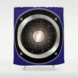 Colourful Rock Guitar Speaker Shower Curtain