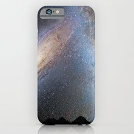 Hubble Space Telescope - Nighttime Sky View of Future Galaxy Merger: 3.75 Billion Years iPhone Case