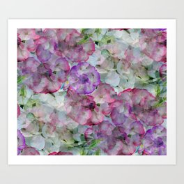 Mesmerizing Floral Abstract Art Print
