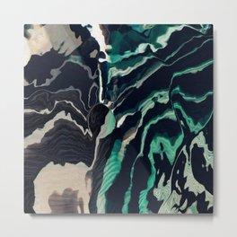 Underwater Stripes Metal Print