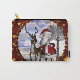Santa Claus with reindeer Carry-All Pouch
