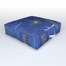 Star Forest - Fox Outdoor Floor Cushion