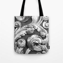 Decorative metalic foliage ornaments Tote Bag