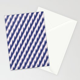 Navy Blue and Pink Diagonal Color Block Ombre Zig Zag Pattern Stationery Cards