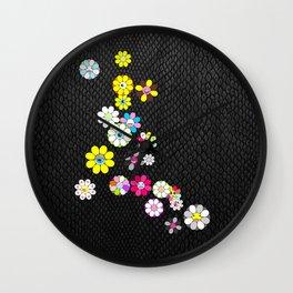 Snake skin and flowers by ilya konyukhov (c) Wall Clock